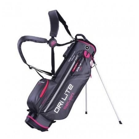 Big Max Dri Lite Seven golf draagtas - standbag (donkerijs-fuchsia)
