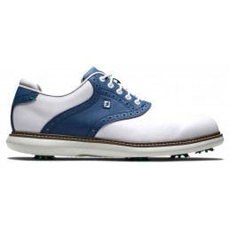 Footjoy Traditions heren golfschoen (wit-blauw) 57901 Footjoy Golfschoenen