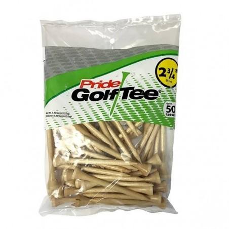 """Pride deluxe houten golf tees 2 3/4"""" (50 stuks)  Pride GolfTee Golfaccessoires"""
