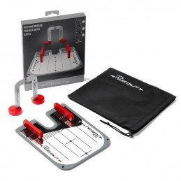 PuttOUT Putting Mirror Trainer met poort PUT/M/RED/GRY Puttout Golf oefenmateriaal