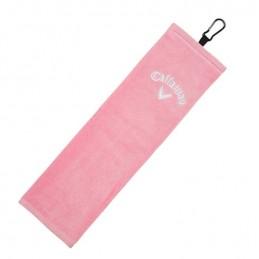 CALLAWAY TRI-FOLD golf handdoek (roze) 5417009 Callaway Golf Golfclub schoonmaakborstels & handdoeken