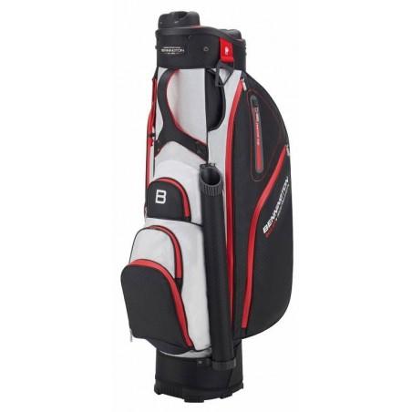 Bennington Quiet Organizer 9 golf cartbag (zwart-wit-rood) BQO9-BWR Bennington Golf Golftassen