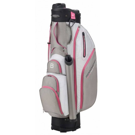 Bennington Quiet Organizer 9 golf cartbag (grijs-wit-roze) BQO9-GWP Bennington Golf Golftassen