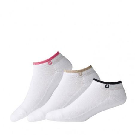 Footjoy ComfortSof Sportlet dames golf enkelsokken 3-paar 14063D Footjoy Golf sokken