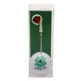 Golfbal met opdruk en marker - Good Luck (1 stuks) ZHKL Sportiques Golfcadeaus