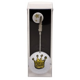 Golfbal met opdruk en marker - King of Golf (1 stuks) 2159 Silverline Golf Golfcadeaus € 7,95