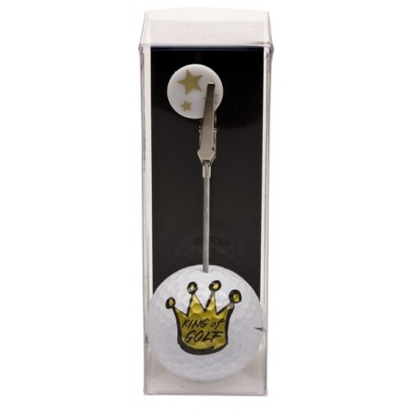 Golfbal met opdruk en marker - King of Golf (1 stuks)