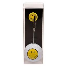 Golfbal met opdruk en marker - Smiley (1 stuks) ZHSM Sportiques Golfcadeaus