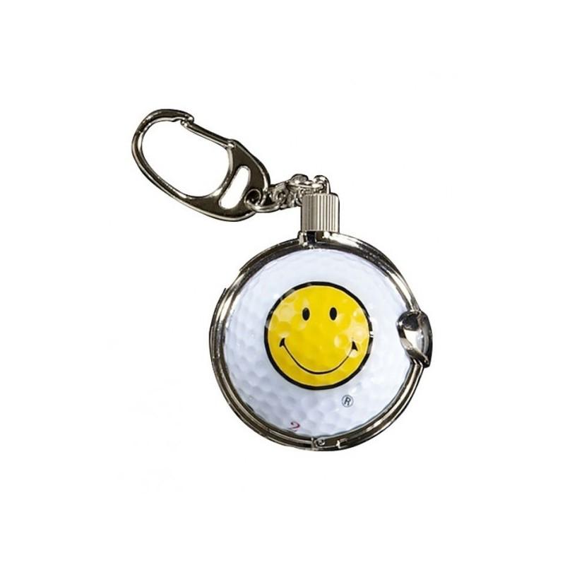Sleutelhanger met golfbal - Smiley (1 stuks)