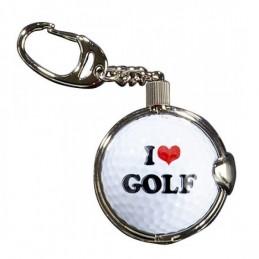Sleutelhanger met golfbal - I Love Golf (1 stuks)