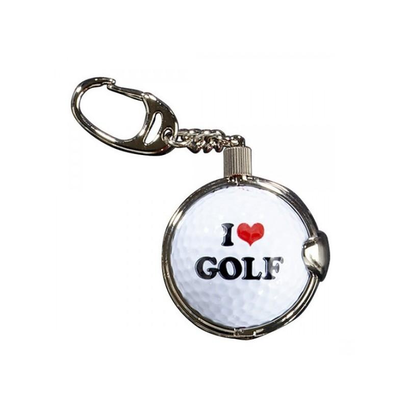 Sleutelhanger met golfbal - I Love Golf (1 stuks)  Silverline Golf Golfcadeaus