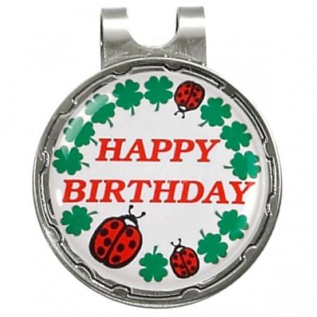 Magnetische marker op hatclip - Happy Birthday (1 stuks)