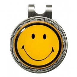Magnetische marker op hatclip - Smiley (1 stuks) HCSM Sportiques Golfcadeaus
