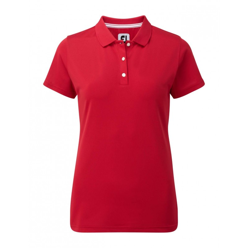 FootJoy Stretch Pique Solid dames golf poloshirt (rood) 94324 Footjoy Golfkleding