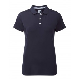 FootJoy Stretch Pique Solid dames golf poloshirt (donkerblauw)