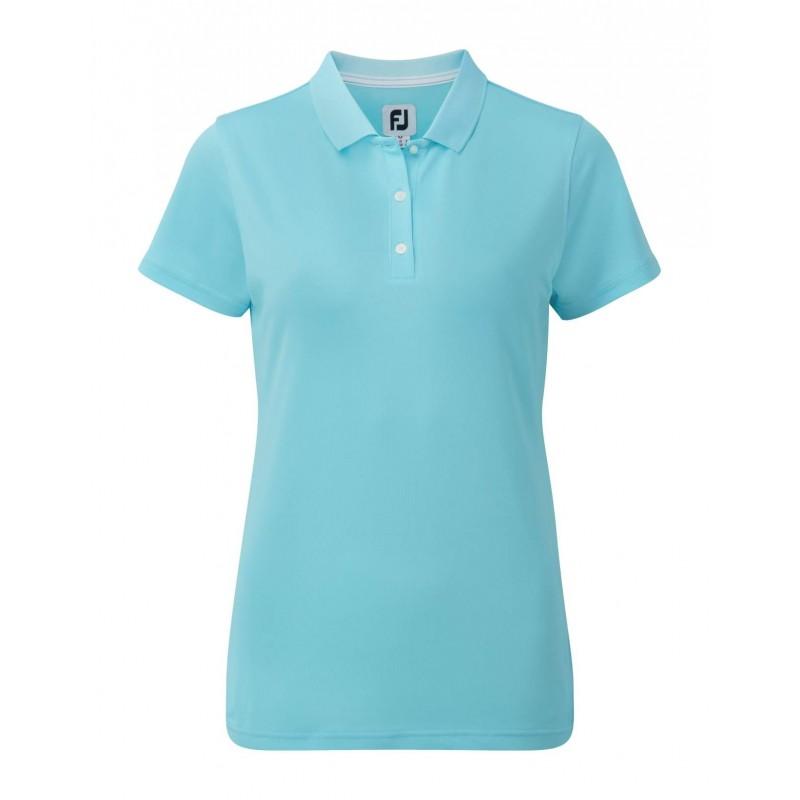 FootJoy Stretch Pique Solid dames golf poloshirt (aqua) 94325 Footjoy Golfkleding