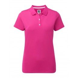 FootJoy Stretch Pique Solid dames golf poloshirt (roze) 94326 Footjoy Golfkleding