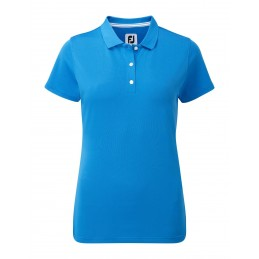 FootJoy Stretch Pique Solid dames golf poloshirt (blauw) 94327 Footjoy Golfkleding