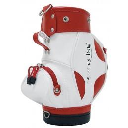 Golfhouder voor wijnfles (wit/rood)