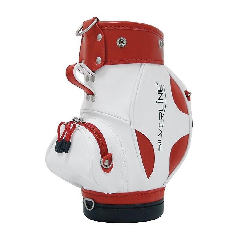 Golfhouder voor wijnfles (wit/rood) 1862 Sportiques Golfcadeaus