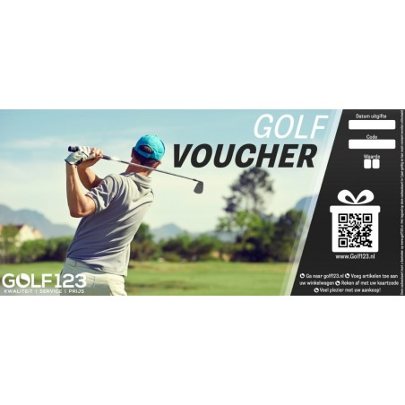 Golf123 Golfvoucher 75 EURO GV75  Golfcadeaus