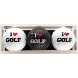 3 golfballen I Love Golf