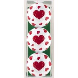 3 golfballen hartjes