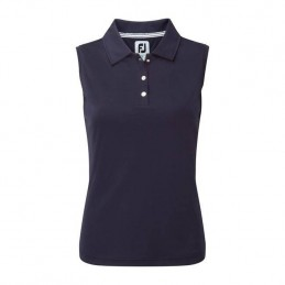 Footjoy Interlock Sleeveless dames golf polo (marineblauw) 94332 Footjoy Golfkleding