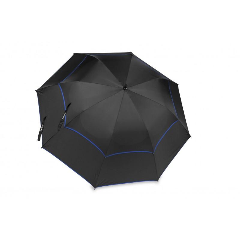 BagBoy golfparaplu Double Canopy (zwart/royal)  BagBoy Golf Regen artikelen
