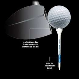 Pride Professional Tee System Performance plastic tees 30 stuks (38mm) 190010 Pride GolfTee Golfaccessoires
