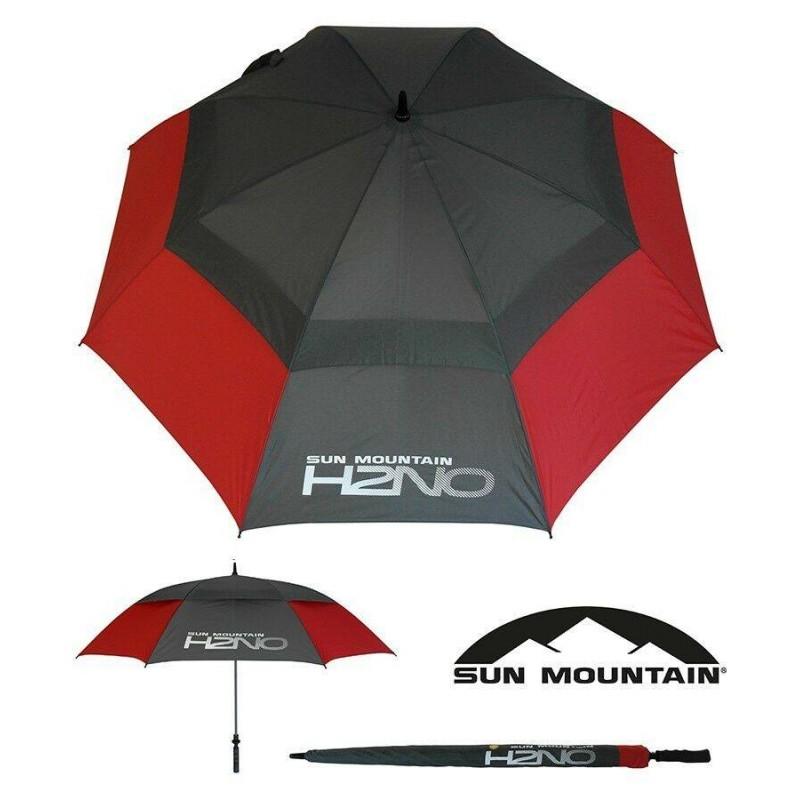 Sun Mountain H2NO golfparaplu 2019 (rood/grijs) SUNH2NO-RG Sun Mountain Regen artikelen