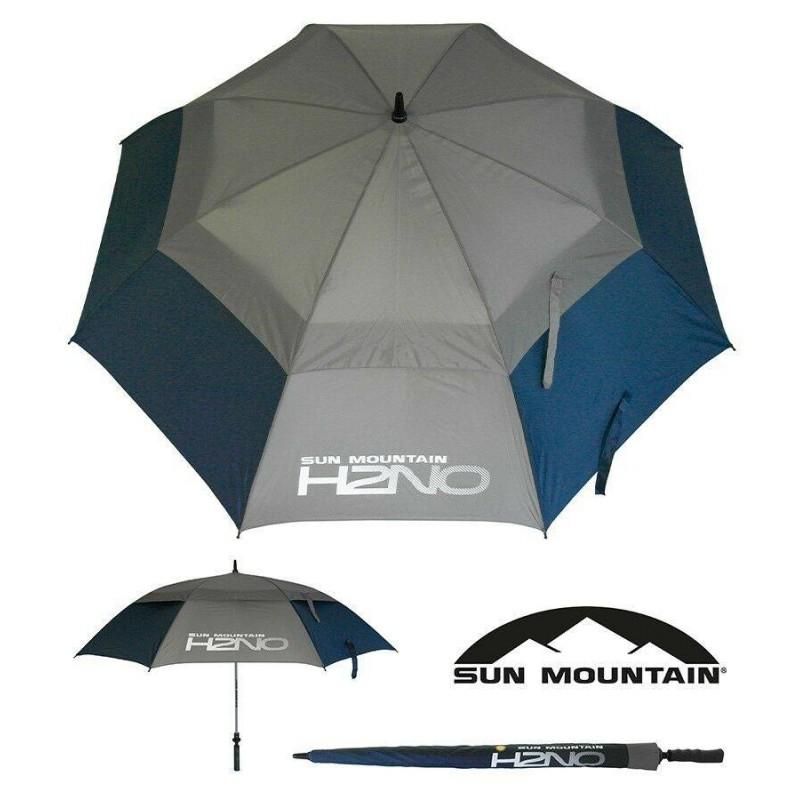 Sun Mountain H2NO golfparaplu 2019 (marineblauw/grijs) SUNH2NO-NG Sun Mountain Regen artikelen