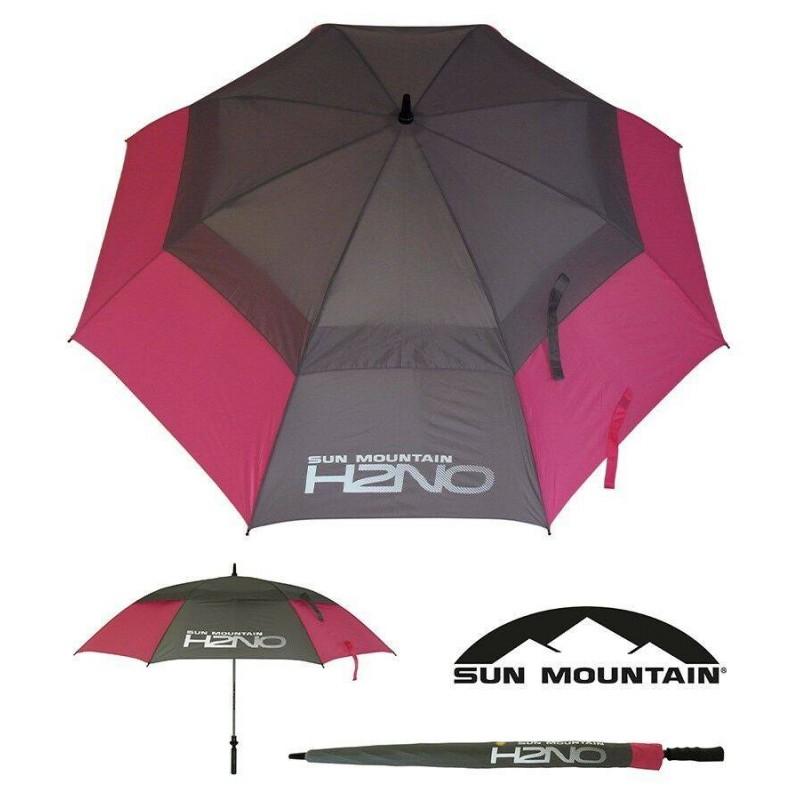 Sun Mountain H2NO golfparaplu 2019 (roze/grijs) SUNH2NO-PG Sun Mountain Regen artikelen