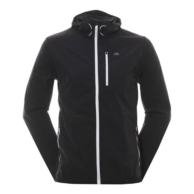 Calvin Klein Golf ultra licht wind jacket (zwart) C9375-B Calvin Klein Golf Golfkleding