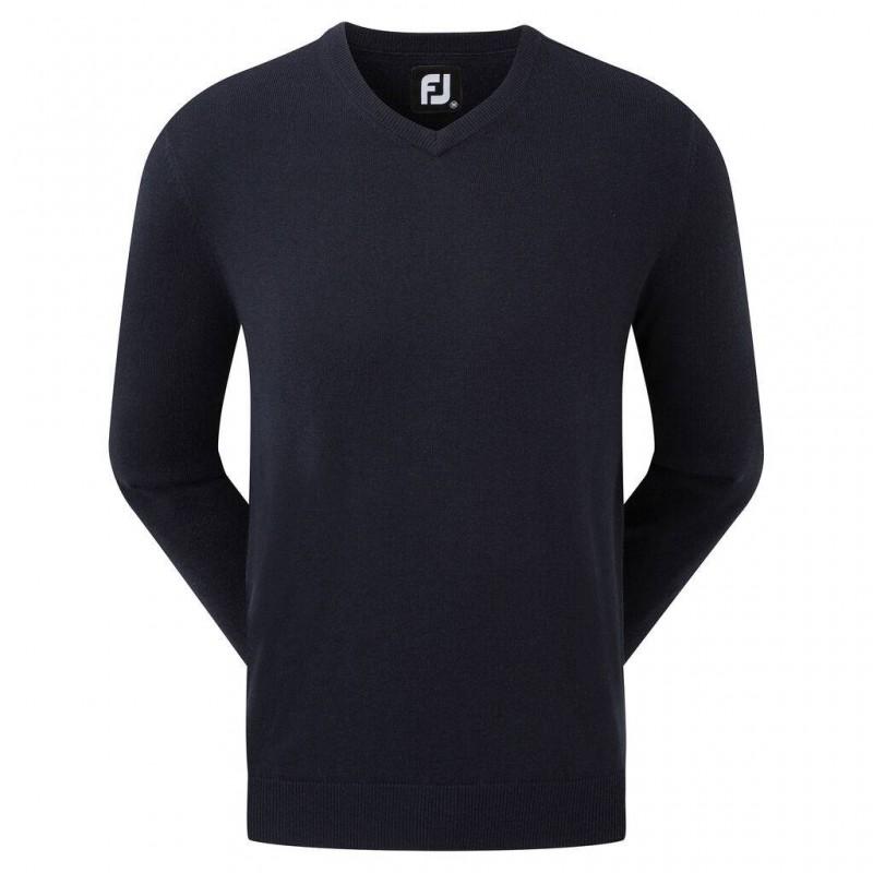 Footjoy Wool Blend v-neck heren golftrui (marineblauw) 90130 Footjoy Golfkleding