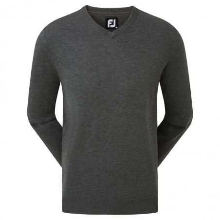 Footjoy Wool Blend v-neck heren golftrui (grijs)
