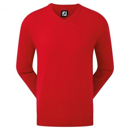 Footjoy Wool Blend v-neck heren golftrui (rood)