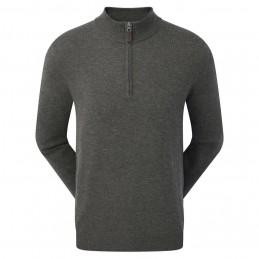 Footjoy Wolmix halve rits golf pullover trui (grijs)