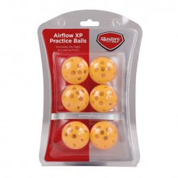 Masters Airflow XP Practice balls golf oefenballen (geel)