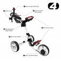 Clicgear 4.0 golftrolley - golfkar (roze) 1940-MAPK Clicgear Golf Golftrolleys