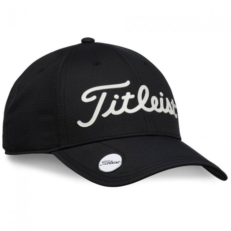 Titleist Performance Ball Marker Cap (zwart/wit) TH9APBMEA-01 Titleist Golf Golfkleding