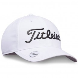 Titleist Performance Ball Marker Cap (wit/zwart) TH9APBMTE-10 Titleist Golf Golfkleding