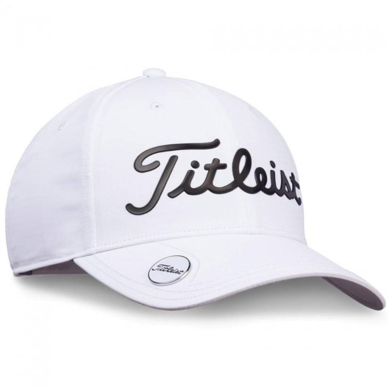 Titleist Performance Ball Marker Cap (wit/zwart) TH9APBMTE-10 Titleist Golf Golfkleding