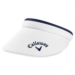 Callaway dames clip golf visor - zonneklep (wit/marineblauw)