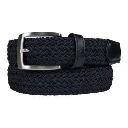 Alberto geweven riem (marineblauw) 0100 8330 (899) Alberto Golfkleding
