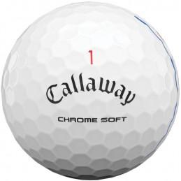 Callaway Chrome Soft Triple Track golfbal (12 stuks) 64212571280  Callaway Golf Golfballen
