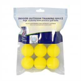 PGA Tour Foam oefen golfballen 12 stuks (geel)