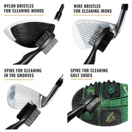 PGA Tour golfclub schoonmaakborstel / dual brush met uittrekkoord PGAT185 PGA Tour  Golfaccessoires