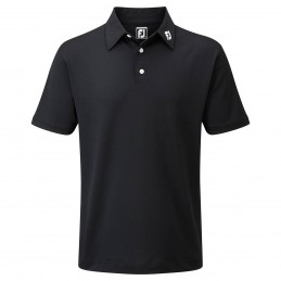FootJoy Stretch Pique heren golfpolo shirt (zwart) 91822 Footjoy Golfkleding