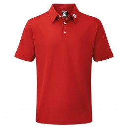 FootJoy Stretch Pique heren golfpolo shirt (rood) 91825 Footjoy Golfkleding